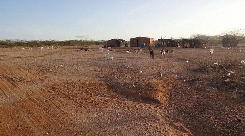 Ranchería de los Wayús in the La Guajira desert, Colombia. Photo by Petruss, Wikimedia Commons.