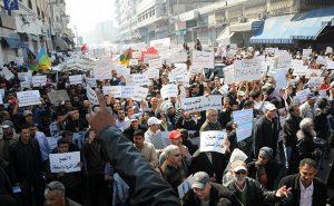 Protestors in Casablanca, Morocco. File photo by Magharebia, Wikipedia Commons.