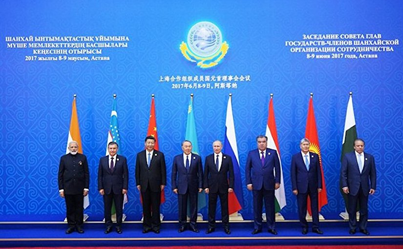 The Shanghai Cooperation Organization Heads of State Council Meeting presided by Kazakh President Nursultan Nazarbayev.