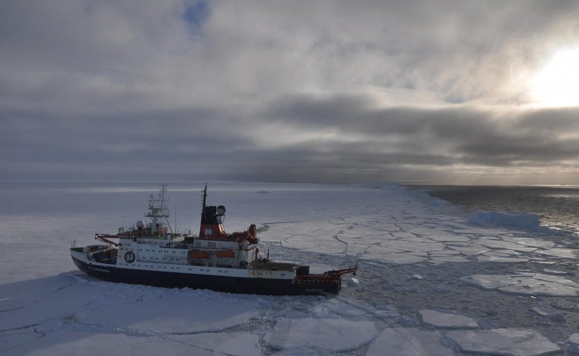 Sediment cores were collected from Pine Island Bay in West Antarctica using the German research vessel RV Polarstern. Credit James Smith @ British Antarctic Survey