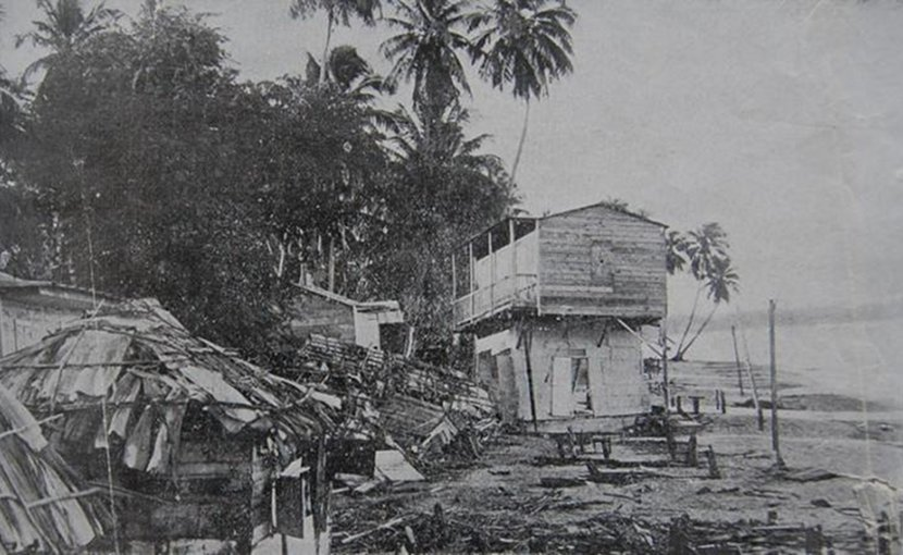 Shoreline damage in Aguadilla, Puerto Rico is shown following the 1918 earthquake and tsunami. Credit Courtesy of Roland LaForge