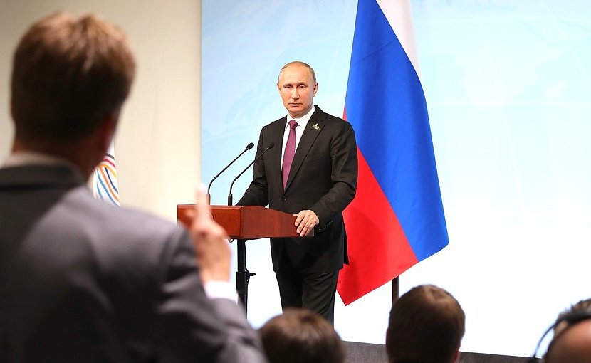 Russia's President Vladimir Putin at press conference. Photo credit: Kremlin.ru