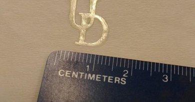 University of Delaware researchers made the University logo using their newly developed polymerization technique. Credit Abhishek Shete/ University of Delaware