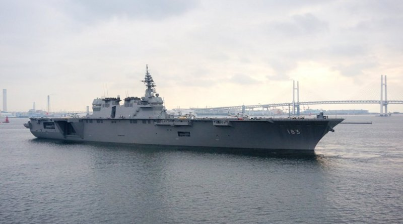 Japan's helicopter destroyer JS Izumo. Photo: Wikipedia Commons.
