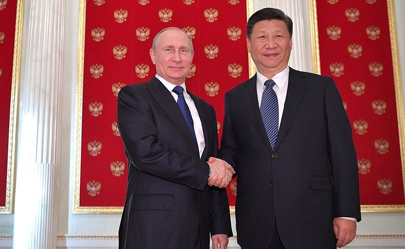 Russia's President Vladimir Putin with President of China Xi Jinping. Photo Credit: Kremlin.ru