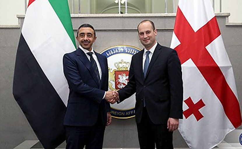 Sheikh Abdullah bin Zayed and Georgian Foreign Minister Mikheil Janelidze, July 17, 2017. Photo: MFA Georgia