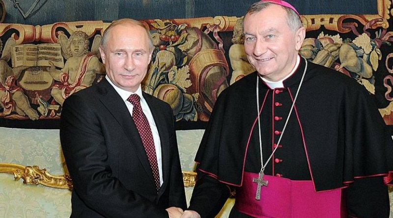 Russia's President Vladimir Putin with the Vatican's Cardinal Parolin. Photo Credit: Kremlin.ru