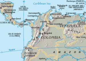 Figure 10. Map of Panama Canal  Source: CIA World Factbook