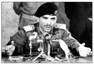 The West Bank was not involved in the growing Egyptian-Israeli crisis before King Hussein (above) joined Nasser's bandwagon some two weeks after its flare-up. Had the king heeded Jerusalem's secret appeals on June 5 to stay out of the war, the territory would have remained under Jordanian control.