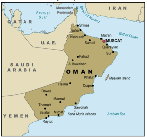 Map of Oman. Source: CRS.