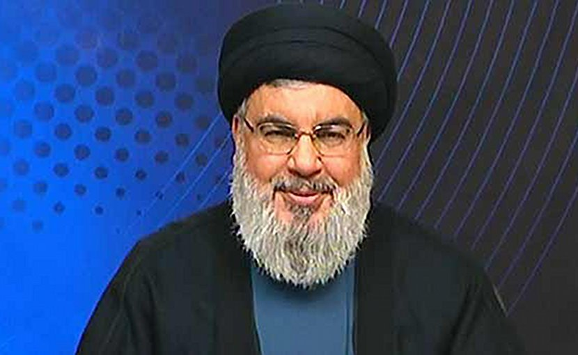 Hezbollah's Secretary-General Hassan Nasrallah. Credit: Screenshot of Hezbollah YouTube video.