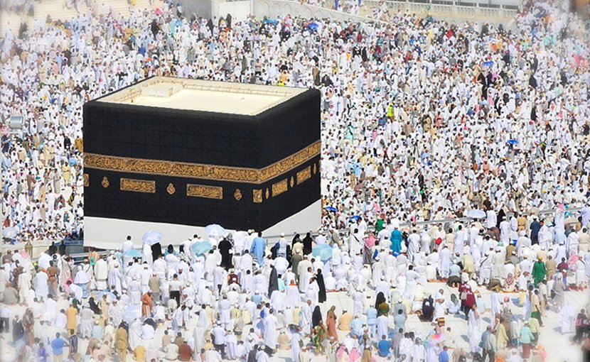 The Hajj begins in Mecca on the eighth day of the last month of the Islamic calendar. On this day, if pilgrims are not already wearing their ihram - two pieces of white cloth for me, simple, loose clothing for women - they must do so. Photo Credit: Fadi El Binni of Al Jazeera English, Wikimedia Commons.