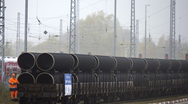 Pipes for the Nord Stream 2 pipeline. Photo Credit: Nord Steam 2