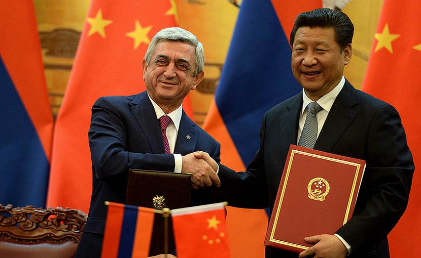 Armenian President Serzh Sargsyan meets with his Chinese counterpart Xi Jinping in Beijing in March 2015. Photo: Armenian Presidential Press Service