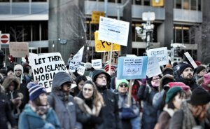 Protest in Canada supporting Muslims.