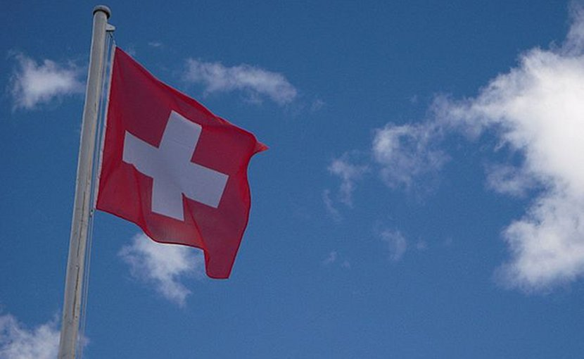Flag of Switzerland. Photo by BKP, Wikimedia Commons.