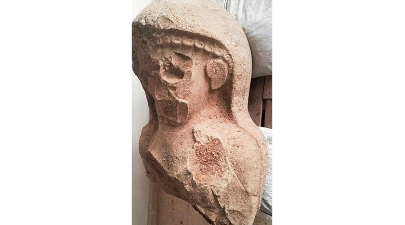 This 3,000-year-old female statue was uncovered at a citadel gate complex in Turkey by University of Toronto archaeologists leading the Tayinat Archaeological Project. Initial speculations are that the figure is a representation of either Kubaba, divine mother of the gods of ancient Anatolia, or the wife of Neo-Hittite king Suppiluliuma, or Kupapiyas, who was the wife - or possibly mother - of Taita, the dynastic founder of ancient Tayinat. Credit Photo courtesy of Tayinat Archaeological Project