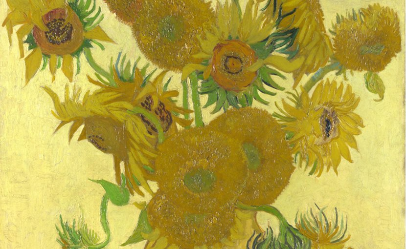 Detail of 'Sunflowers' fourth edition by Vincent Van Gogh.