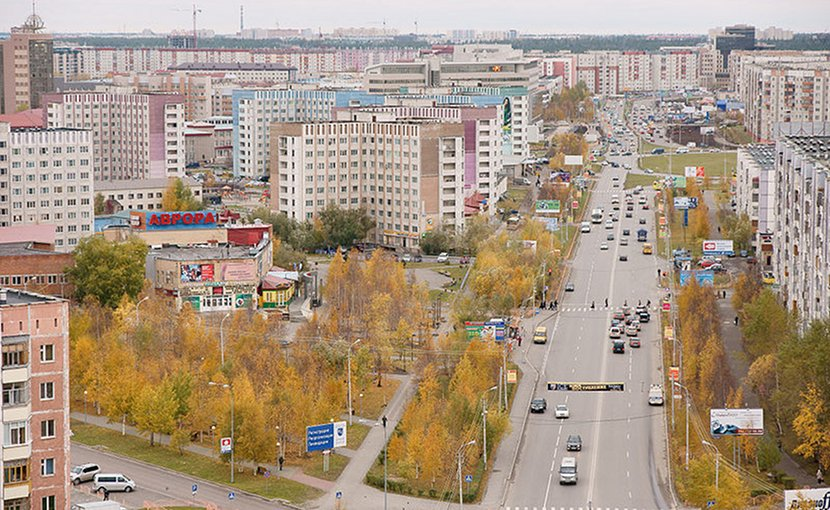 File photo of Surgut, Russia in Siberia region. Photo by Mariluna, Wikipedia Commons.