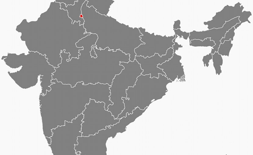 Location of Delhi in India. Source: Wikipedia Commons.