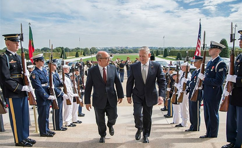 Defense Secretary Jim Mattis meets with Portuguese Defense Minister Jose Alberto Azeredo Lopat the Pentagon, Sept. 12, 2017. DoD photo by Air Force Staff Sgt. Jette Carr