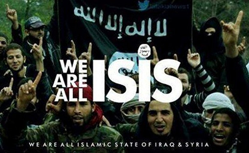 """We Are All ISIS,"" propaganda from Islamic State."