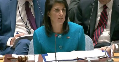 File photo of U.S. envoy to the United Nations Nikki Haley. Source: YouTube screenshot.