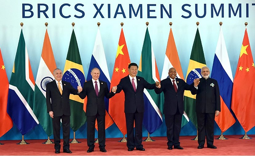 BRICS Xiamen Summit 2017 group photo. Photo Credit: India's PM office.