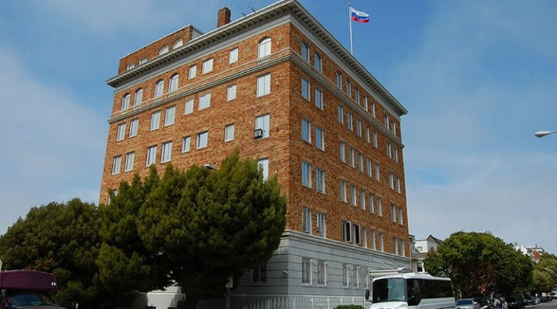 Consulate-General of Russia in San Francisco. Photo by Eugene Zelenko, Wikipedia Commons.