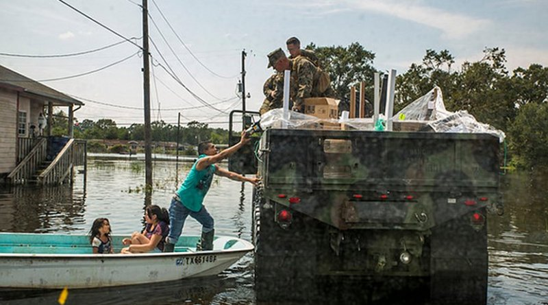 U.S. Marines aid Hurricane Harvey victims. U.S. Marine Corps photo by Lance Cpl. Niles Lee