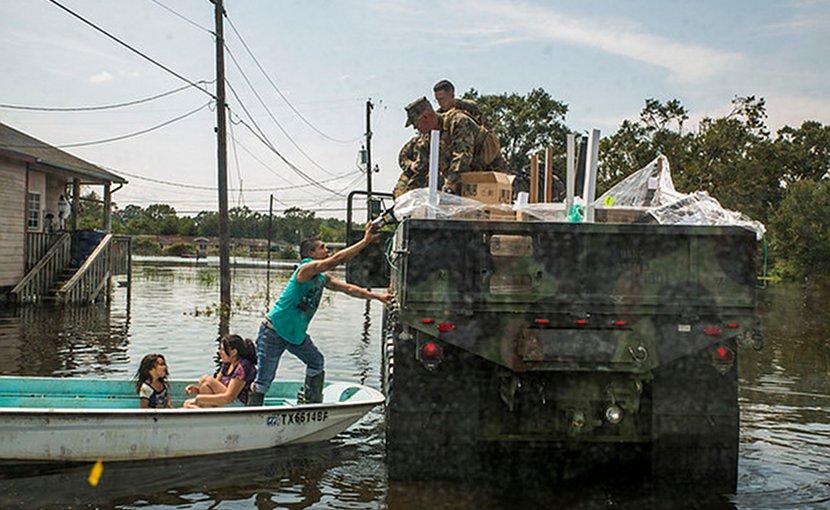 U.S. Marines aid Hurricane Harvey victims. U.S. Marine Corps photo by Lance Cpl. Niles Lee