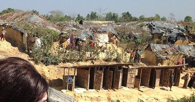 Kutupalong Refugee Camp in Cox's Bazar, Bangladesh. The camp is one of three, which house up to 300,000 Rohingya people fleeing inter-communal violence in Myanmar. Credit: Wikimedia Commons.