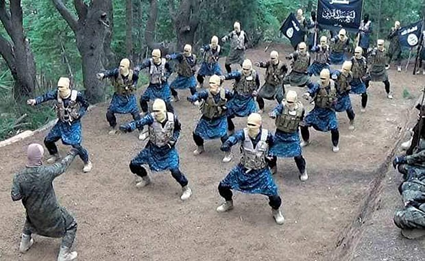ISIS terrorist training camp in Afghanistan. Photo: Screenshot from ISIS propaganda video.