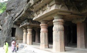 Ajanta Caves in India. Photo by Jonathanawhite, Wikimedia Commons.