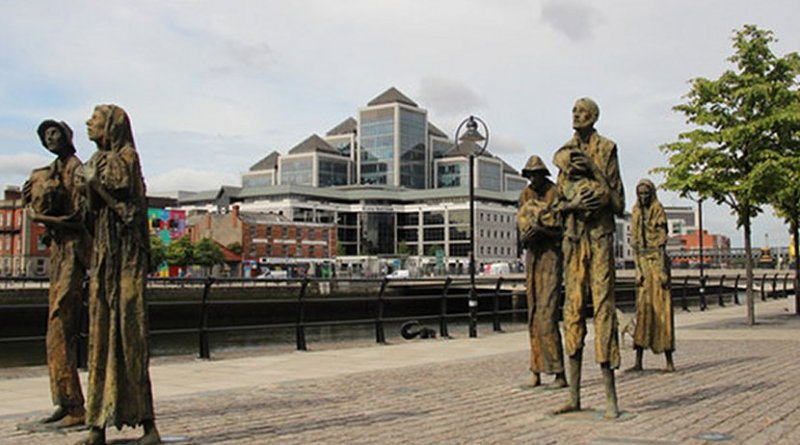 Famine persists with opulent power behind it: sculpture by Rowan Gillespie (Photo credit Christine Mitchell CC BY-SA 2.0)