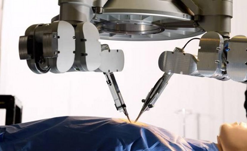 Plastic surgeons at Maastricht University Medical Center have used a robotic device to surgically treat lymphedema in a patient. This is the world's first super-microsurgical intervention with 'robot hands'. Credit Microsure