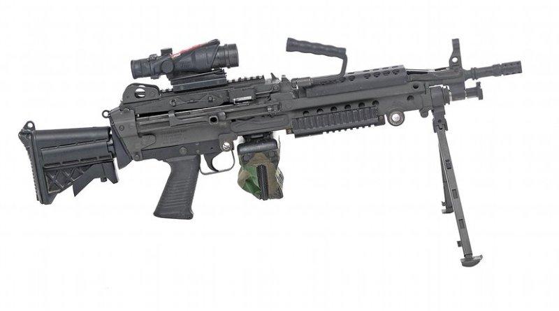 A M249 light machine gun. Source: WIkipedia Commons.