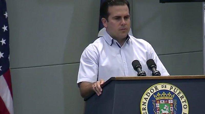 Puerto Rico's Gov. Ricardo Rossello. Source: DoD video screenshot.