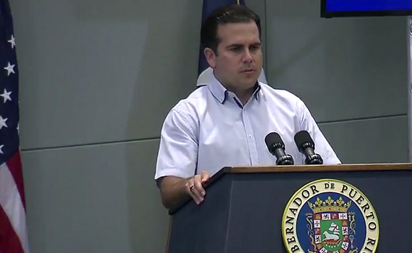 Puerto Rico's Gov. Ricardo Rossello. Source: DoD video screenshot.