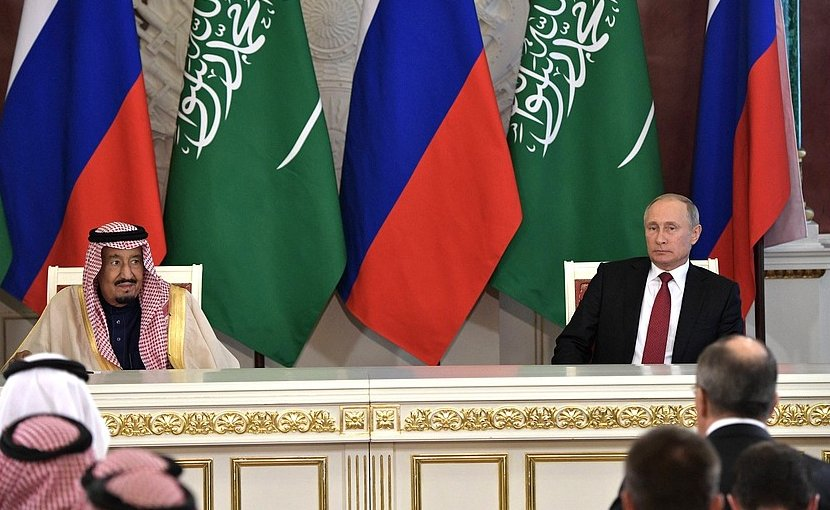 King Salman bin Abdulaziz Al Saud of Saudi Arabia with Russia's President Vladimir Putin. Photo Credit: Kremlin.ru