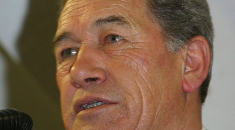 New Zealand's Winston Peters. Photo by AirflowNZ, Wikipedia Commons.