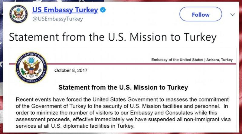 Statement to US Mission to Turkey