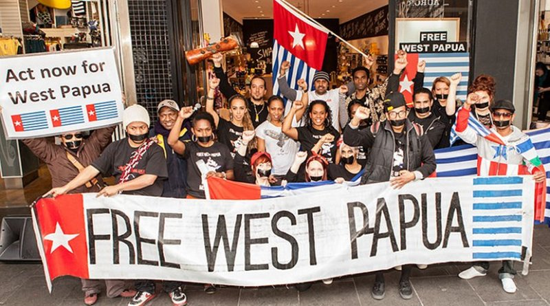 Free West Papua protest in Melbourne, Australia. Photo by Nichollas Harrison, Wikipedia Commons.