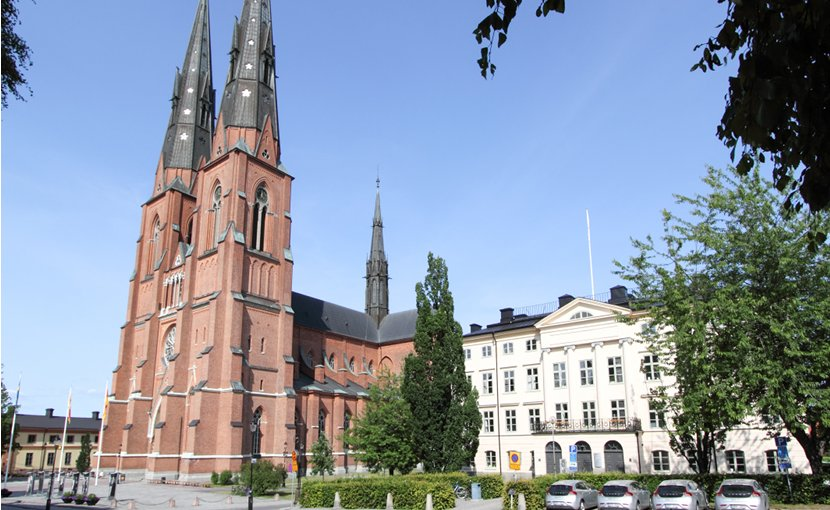 Uppsala Cathedral, Uppsala, Sweden. Photo by Szilas, Wikipedia Commons.