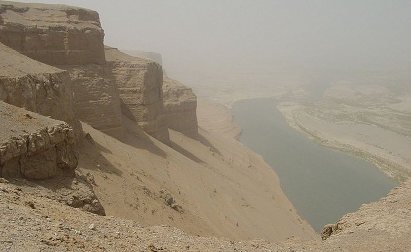 Helmund River in Afghanistan. Photo Credit: US Military, Wikipedia Commons.