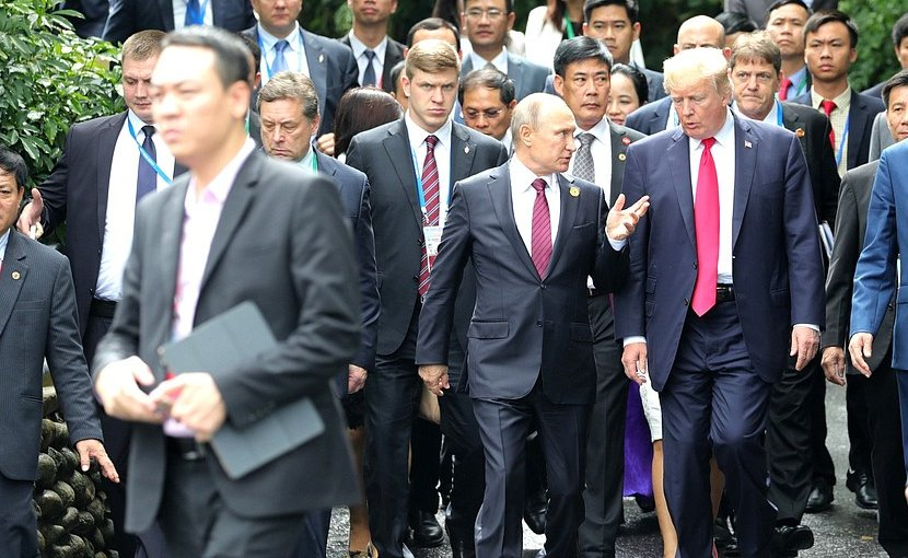 The 25th APEC Economic Leaders' Meeting participants. Russia's President Vladimir Putin with President of the United States Donald Trump. Photo Credit: Kremlin.ru