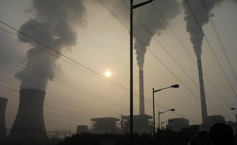 Coal ash from China's high-uranium coal deposits, such as what is produced by this power plant, is too radioactive to be reused in building materials, a new study shows. Credit Shifeng Dai