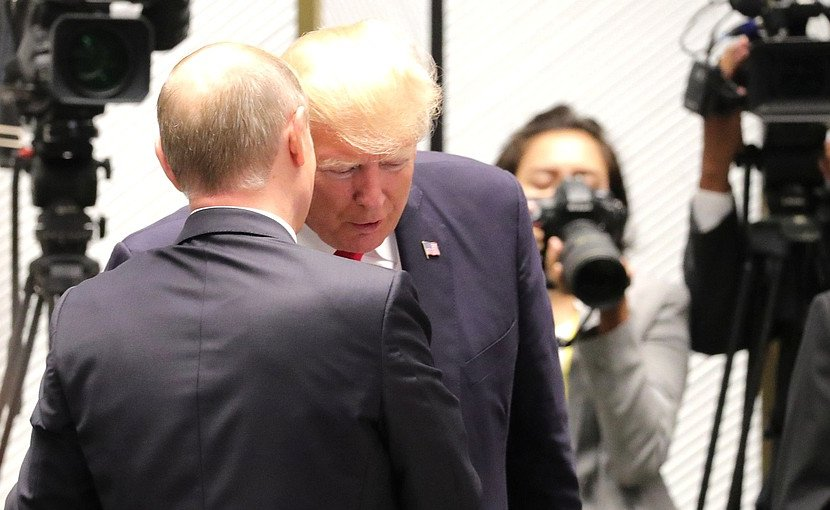 Russia's President Vladimir Putin with President of the United States Donald Trump. Photo Credit: Kremlin.ru