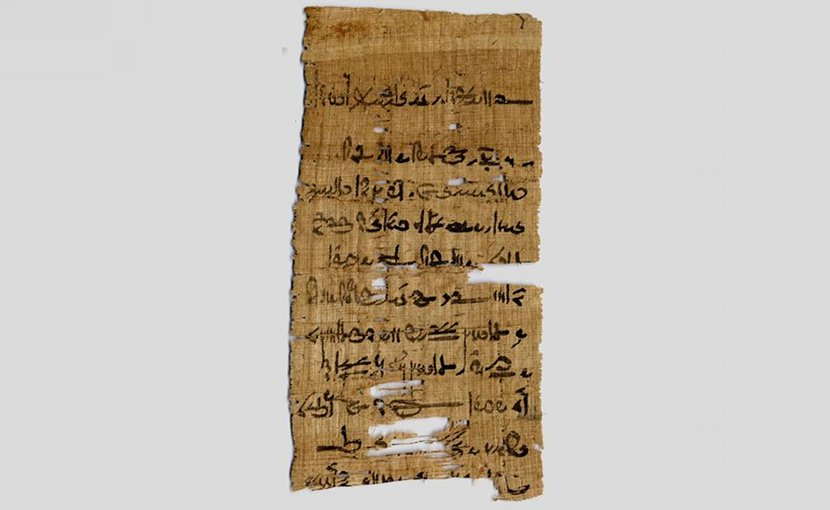 This is a fragment from the Tebtunis temple library in the Papyrus Carlsberg Collection. Credit University of Copenhagen