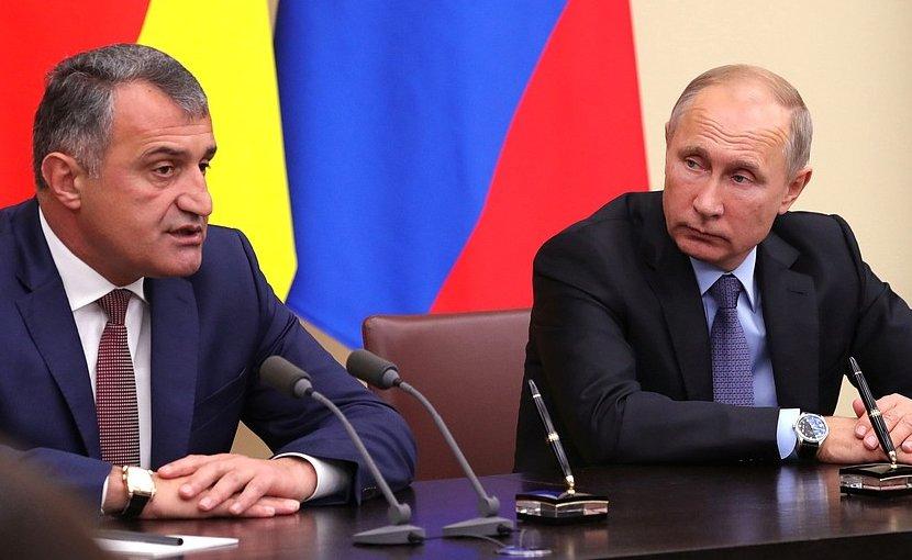 South Ossetia Anatoly Bibilov with Russia's President Vladimir Putin. Photo Credit: Kremlin.ru